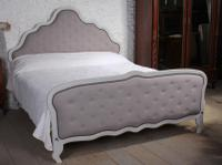 Pleasing French Super King Size Restored Upholstered Bed