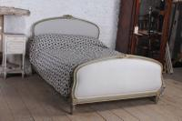 Absolutely Lovely French King Size Upholstered Bed (2 of 10)