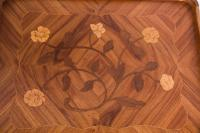 Very Pretty Pair of French Walnut Marquetry Bedsides (4 of 6)