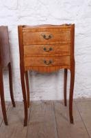 Very Pretty Pair of French Walnut Marquetry Bedsides (6 of 6)