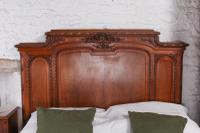 The Most Beautiful French Carved Solid Walnut Bedroom Suite with King Size Bed (6 of 17)