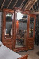 The Most Beautiful French Carved Solid Walnut Bedroom Suite with King Size Bed (7 of 17)