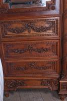 The Most Beautiful French Carved Solid Walnut Bedroom Suite with King Size Bed (9 of 17)