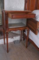 The Most Beautiful French Carved Solid Walnut Bedroom Suite with King Size Bed (16 of 17)