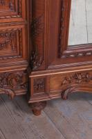 The Most Beautiful French Carved Solid Walnut Bedroom Suite with King Size Bed (11 of 17)