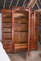 The Most Beautiful French Carved Solid Walnut Bedroom Suite with King Size Bed (8 of 17)