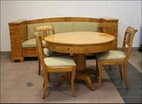 Biedermeier Set, Sofa and Table with Chairs