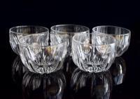 5 Val St Lambert Finger Bowls
