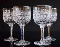 4 Thomas Webb Wellington Water Goblets
