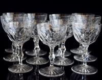 Part Set Thomas Webb Edwardian Wine Glasses