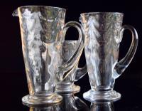 3 Thomas Webb Wave Art Nouveau Jugs