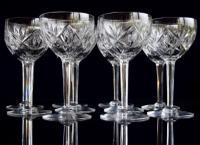 10 Val St Lambert Large Wine Glasses