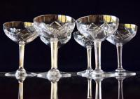 6 French Champagne Coupes