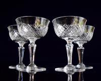 4 Thomas Webb Champagne Glasses