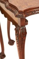 Burr Walnut & Carved Nest 3 Tables circa 1930s (4 of 6)