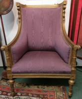 Louis XV Giltwood Carved & Upholstered Armchair c.1780
