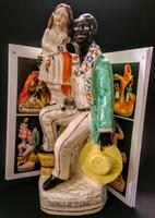 Staffordshire Figure of 'Uncle Tom' with Eva c.1865