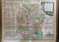 Antique Map of Wiltshire and Its Hundreds by Bowen C.1755