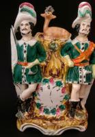 Staffordshire Huntsmen Clock Group c.1865