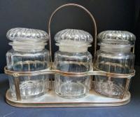 Antique Sheffield Plate Jar Stand c.1815