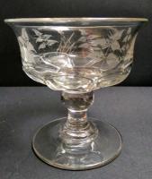 Victorian Fern Engraved Sweetmeat Glass c.1865