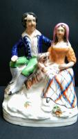 Staffordshire Figure Group of Couple with Goat c.1845