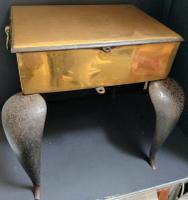 Georgian Brass Trivet Footman c.1750