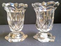 Pair of Antique Cut Glass Jelly Glasses c.1830