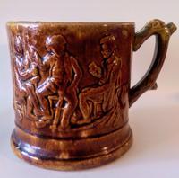 Staffordshire Treacle Glazed Ale Mug c.1820
