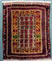 Vintage Baluch Small Mat c.1950