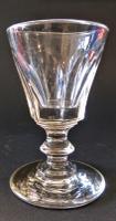 Facet Cut Wine Glass c.1820