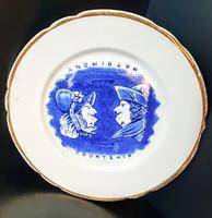 Humorous Courtship / Matrimony Plate, Date Mark 1886