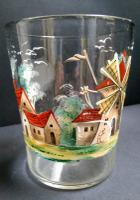 Large Painted Glass Tumbler c.1850 (5 of 5)