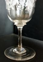 Beautiful Hand Engraved Edwardian Wine Glass c.1905 (3 of 5)