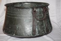 Brass Cooking Pot or Couldron with Iron Handles