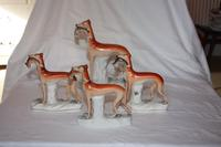 Collection of Staffordshire Coursing Greyhounds