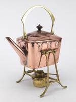 Art Nouveau WMF Brass & Copper Kettle on Stand with Burner