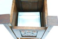 Edwardian Arts and Crafts Oak-Framed Planter with Opposing Copper Panels C1905 (Manner of Shapland & Petter) (3 of 3)