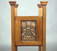 Edwardian Arts and Crafts Oak-Framed Planter with Opposing Copper Panels C1905 (Manner of Shapland & Petter) (2 of 3)