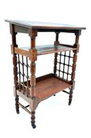 Arts and Crafts Oak Reading Table by Leonard Wyburd For Liberty and Co. (C1900) (7 of 7)