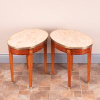 Pair of Inlaid French Occasional Tables c.1920