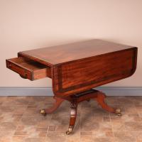 Good Quality Regency Inlaid Mahogany Pembroke Table (9 of 19)