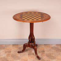 Good Quality Victorian Walnut Chess Table (3 of 13)