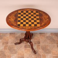 Good Quality Victorian Walnut Chess Table (4 of 13)