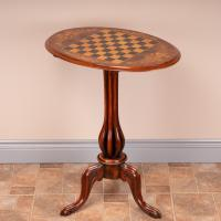 Good Quality Victorian Walnut Chess Table (10 of 13)