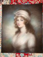 Pastel Portrait of Beautiful Lady