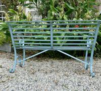 Victorian Wrought Iron Garden Bench (5 of 7)