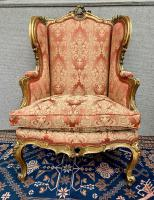 Pair of Louis XVI Gilded Armchairs c.1850 (10 of 17)