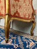 Pair of Louis XVI Gilded Armchairs c.1850 (16 of 17)
