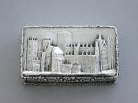 Victorian Silver Castle-Top Vinaigrette - York Minster by Nathaniel Mills, Birmingham, 1840